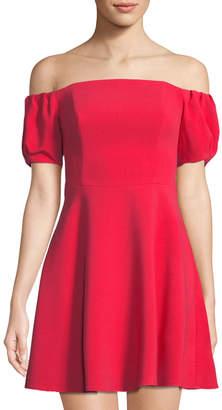 Black Halo Arden Off-The-Shoulder Mini Dress