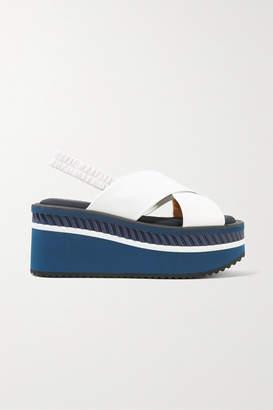 Clergerie Omin Leather Platform Slingback Sandals - White