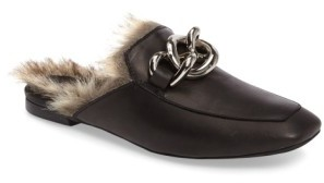 Jeffrey Campbell Women's Jeffrey Campbell Ravis Faux Fur Mule