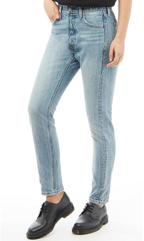 Damen 501 Skinny Altered Skinny Jeans Hellblau