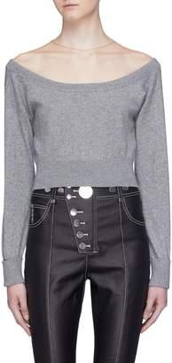 Alexander Wang Mesh yoke cropped sweater