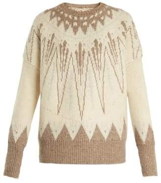 ADAM by Adam Lippes Geometric-intarsia wool-bend sweater