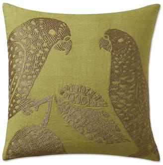 Williams-Sonoma Parrot Zardozi Pillow Cover, Chartreuse