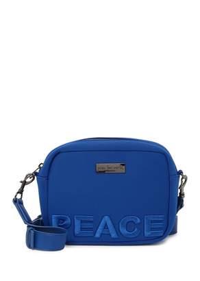 Peace Love World Camera Crossbody Bag