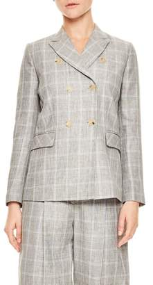 Sandro Gris Double Breasted Jacket