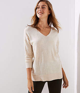 LOFT Petite V-Neck Sweater