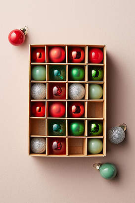 Anthropologie Mini Bauble Ornament Set