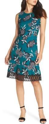 Julia Jordan Crepe Scuba A-Line Dress