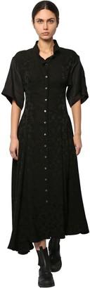 Loewe Satin & Linen Jacquard Shirt Dress