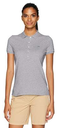 Lacoste Women's Classic Short Sleeve Slim Fit Stretch Pique Polo, PF7845, 2
