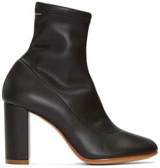 Maison Margiela Black Pump-Sock Ankle Boots