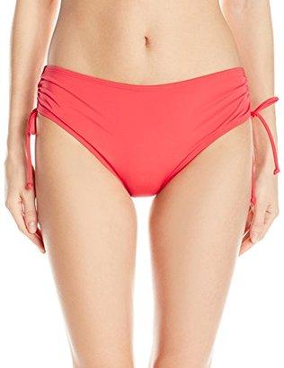 Jantzen Women's Solid Cinch Tie Bikini Bottom $50 thestylecure.com
