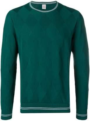 Eleventy geometric knit sweater