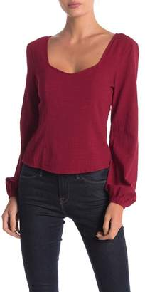 Anama Long Sleeve Woven Top