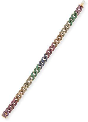 Sydney Evan Small Rainbow Pave Link Bracelet