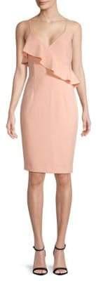 Calvin Klein Spaghetti Strap Ruffle Dress