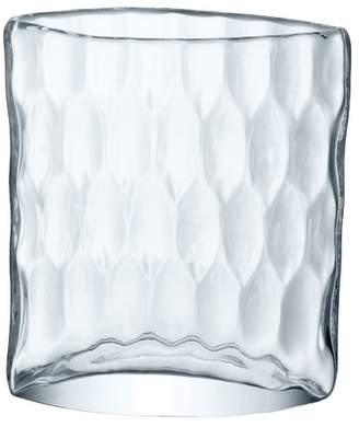LSA International Tulle Dimpled Clear Glass Vase