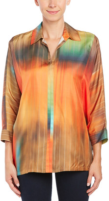 Josie Natori Jose Natori Silk Twill Top