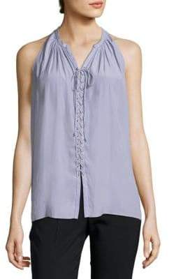 Ramy Brook Patty Sleeveless Lace-Up Top
