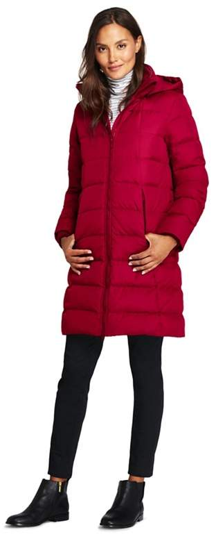 Red Petite Hooded Down Coat