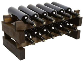 2 Layers of 6 Bottles Wine Rack Finish: Matte Stain