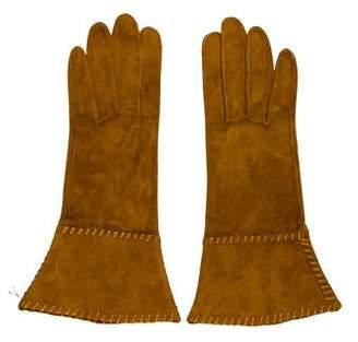 Saint Laurent Suede Whipstitch Gloves