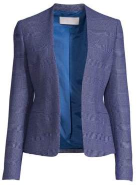 BOSS Jalesta Glencheck Open-Front Stretch Suiting Jacket