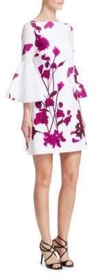 Chiara Boni Floral Bell Sleeve Top