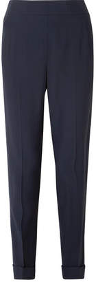 Akris Chris Crepe Tapered Pants - Navy