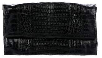 Nancy Gonzalez Large Crocodile Fold-over Clutch