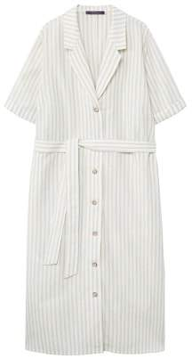 Violeta BY MANGO Striped linen dress
