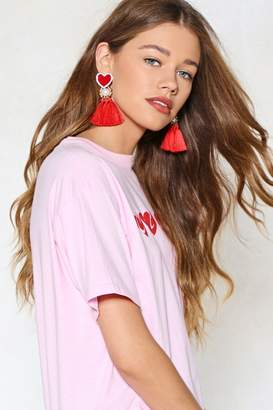 Nasty Gal Harden My Heart Tassel Earrings