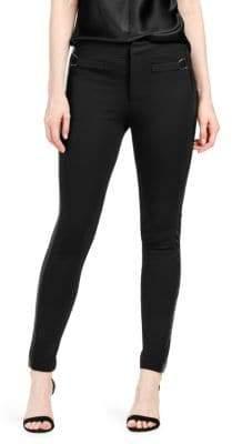 Paige Merci Side-Striped Ponte Pants