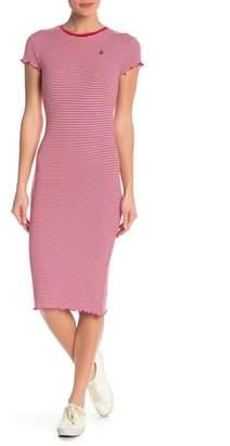 Volcom Colder Stripe Knit Midi Dress