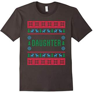 Daughter Ugly Christmas Sweater Matching Family Pajama Shirt
