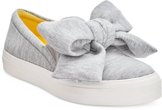 Nine West Onosha Bow Flatform Sneakers $79 thestylecure.com