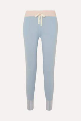 Morgan Lane - Hailey Striped Cashmere Track Pants - Blue
