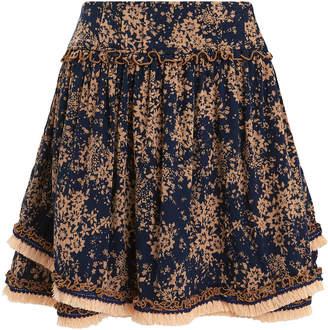 Poupette St Barth Heidi Wrap Mini Skirt