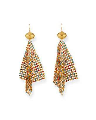 Devon Leigh Rainbow Crystal Mesh Earrings
