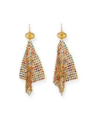 Devon Leigh Rainbow Crystal Mesh Earrings