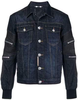 Philipp Plein panelled denim jacket