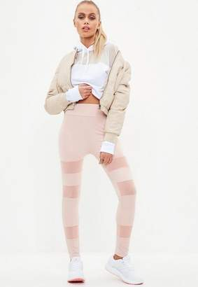 Missguided Active Pink Mesh Insert Gym Legging