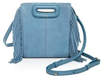 Maje Mini M Suede Crossbody