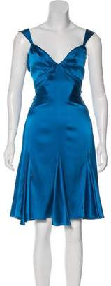 Zac Posen Z Spoke by Knee-Length Silk Dress