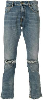 Ih Nom Uh Nit distressed slim fit cropped jeans