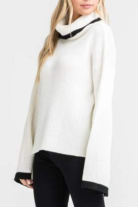 Lush Clothing Turtleneck Bell-Sleeve Sweater