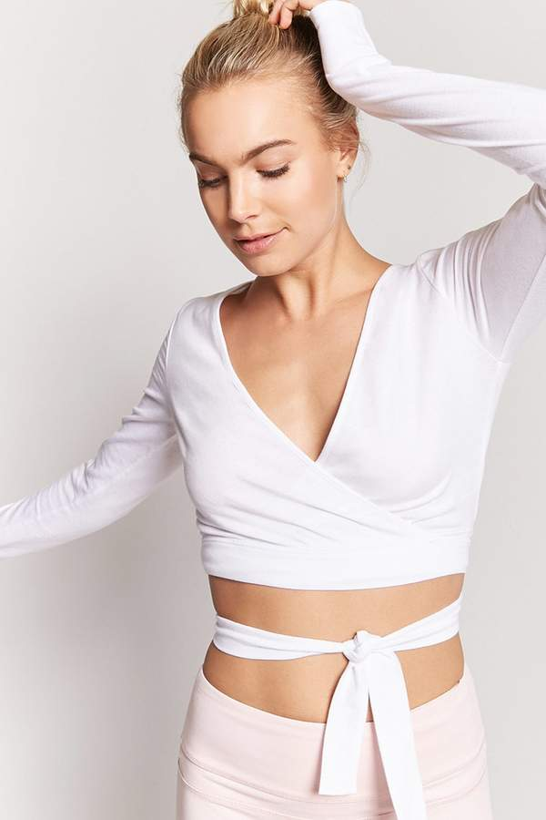 Forever 21 Active Surplice Wraparound Top