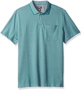 Van Heusen Men's Flex Jacquard Stripe Polo Shirt