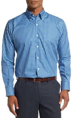 Men's Peter Millar Regular Fit Check Sport Shirt $125 thestylecure.com