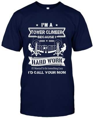 Crazy Love Shirts Tower Climber Tee Shirt Design - I'm A Tower Climber T-Shirt Perfect Gift For Friends Unisex (L,Navy)